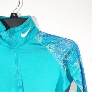 Nike Pro Combat | Blue 1/4 Zip